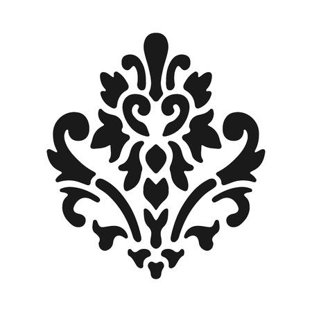 royal french lily symbols: Fleur de lis symbols, black silhouettes - heraldic symbols. Vector Illustration. Medieval signs. Glowing french fleur de lis royal lily. Elegant decoration symbols.