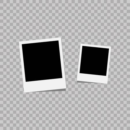 White plastic border on a transparent background. Vector illustration. Photorealistic Vector EPS10 Retro Frame Template