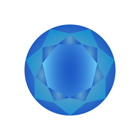 royal wedding: Blue diamond icon. Vector Illustration. Shiny crystal sign. Brilliant stone.Blue stone isolated on white background. Fashion modern design. Flat element. Symbol gift, jewel, gem or royal, rich. Illustration