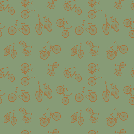 Seamless bicycle pattern. Stylish sporty print. Vector illustration. Background can be used for wallpaper, pattern fills, web page background, surface textures, fabric design.