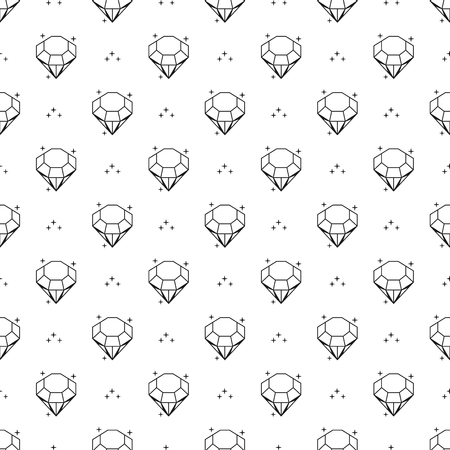 Abstract seamless pattern with diamonds. Black and white background design. Modern stylish texture. Vector illustration. Used for wallpaper, pattern fills, web page,background,surface textures. Illustration