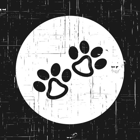 silueta de gato: Footprints of animal paw. Abstract vector. Vintage style For web and mobile applications, illustration design, brochure, banner, presentation, concept poster, cover.