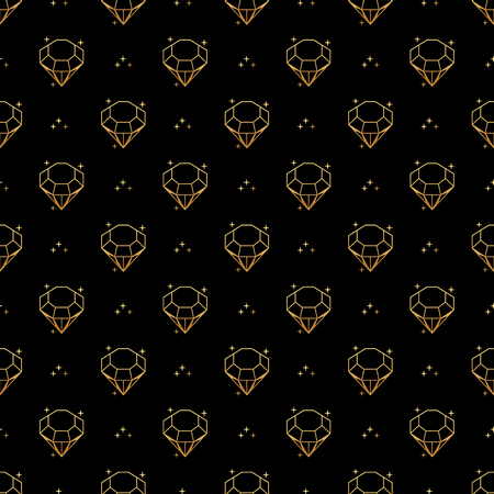 Abstract seamless pattern with golden diamonds. Luxury background design. Modern stylish texture. Vector illustration. Used for wallpaper, pattern fills, web page,background,surface textures.