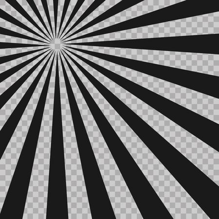 Abstract comic book flash explosion radial lines background. Illusion rays. Retro sunburst. Grunge design element. Good for pictures, wallpapers. Vector illustration for superhero design.