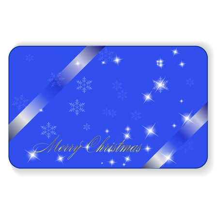 Merry Christmas and Happy New Year with Silver glittering stars and snowflakes, Decorative design for card, banner, greeting, vintage decoration, Symbol of celebration, holiday.