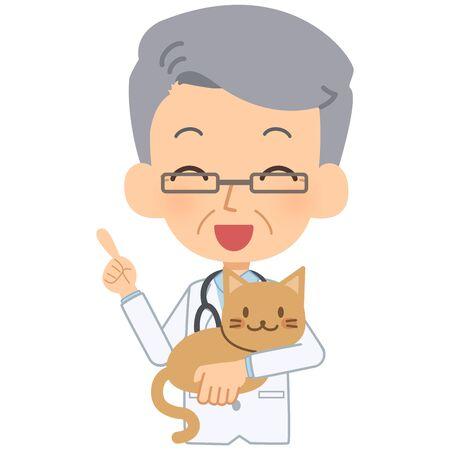 vet and cat explaining