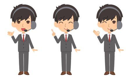 Operator set  イラスト・ベクター素材