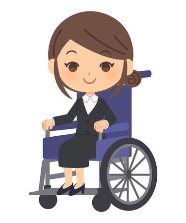 The office worker who got on a wheelchair