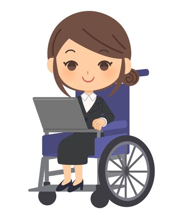 Office worker working on a personal computer Vector Illustratie