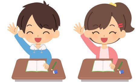 Child raising hands
