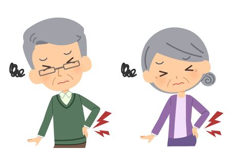 Elderly people with backache