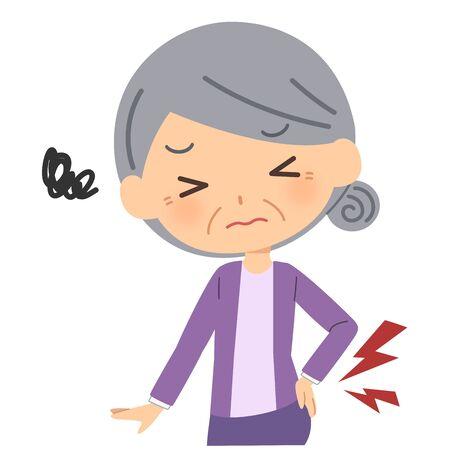Elderly people with backache