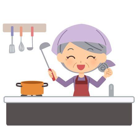 The senior citizen who cooks