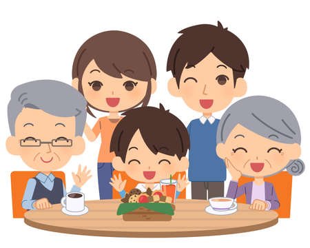 People with dementia gather and enjoy 矢量图像