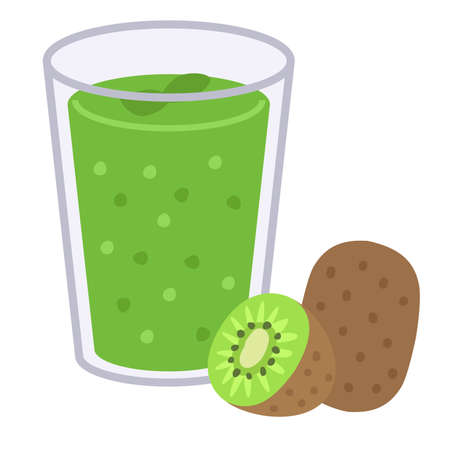 smoothie kiwi fruit juice Çizim