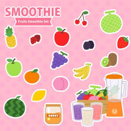 smoothie frits Illusztráció