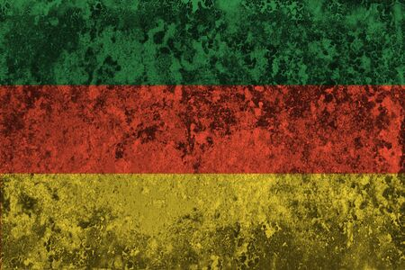 Green yellow red reggae background on the wall