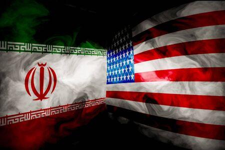 Iran and USA crisis war backgrounds concept