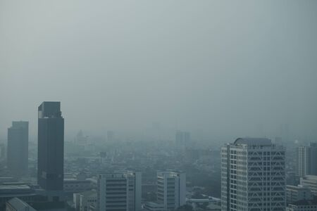 PM 2.5 pollution in Bangkok city,Thailand,Jan 18 ,2020