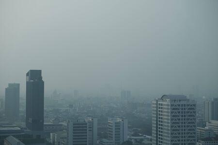PM 2.5 vervuiling in de stad Bangkok, Thailand, 18 januari 2020
