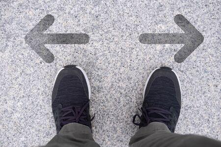 Men are choosing a pathway for the future Foto de archivo