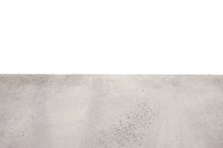 Cement table isolate white background and copy space for a product