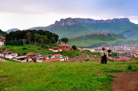 cloud capped: Langmusi scenery