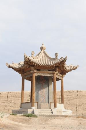 jiayuguan: ancient pavilion at Jiayuguan City