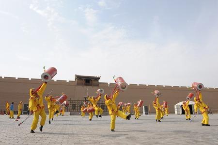 jiayuguan: Jiayuguan with dance performance Editorial