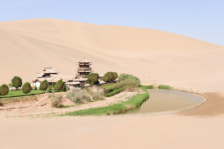 crescent: Dunhuang Crescent Lake