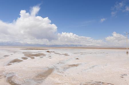 cloud capped: Tea card Saline Lake