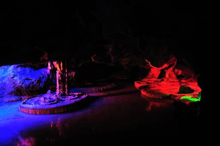 Guilin lotus rock cave Stock Photo