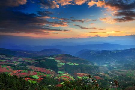 Dongchuan Yunnan red clay field