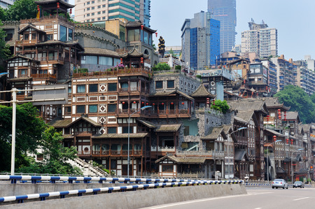stilted: Chongqing scenery Editorial