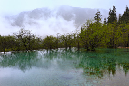 Huanglong Scenic and  calcification pool