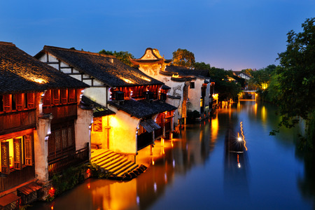 Night view of Wuzhen