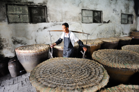 wine making: Wuzhen wine making factory Stock Photo