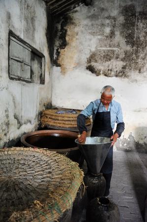 wine making: Wuzhen wine making factory Editorial