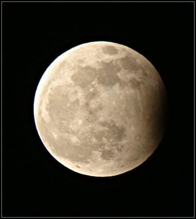 partial: partial moon eclipse
