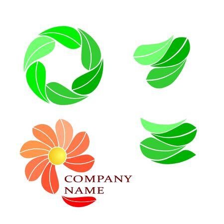 Stylized Logo elements collection isolated on white background