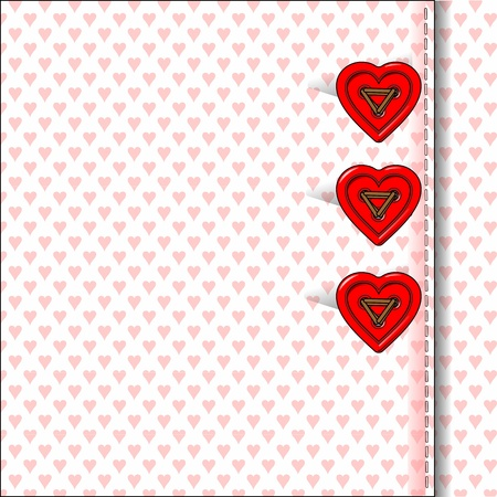 bottons: heart bottons, valentine