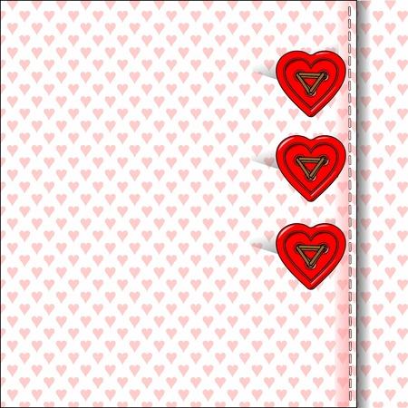 heart bottons, valentine