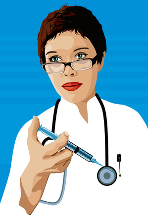 beauty surgery: Doctor with a syringe