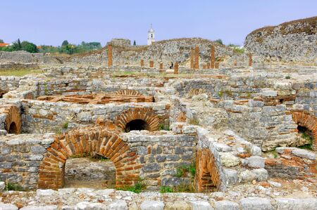 the largest: Portugal, ruins of Conimbriga: largest Roman settlements in Portugal Stock Photo