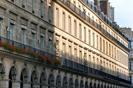 rivoli: France, Paris: ancient famous monuments, Rivoli street; the famous and typical street near the louvre museum