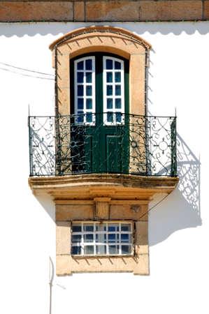 lima province: Portugal, Ponte de Lima: traditional portuguese window at  San Antonio church Stock Photo