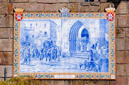 lima province: Portugal, Ponte de Lima: ancient ceramics Azulejos
