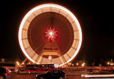 supersonic: Paris. Place de la Concorde: Monuments of Paris the big wheel Stock Photo