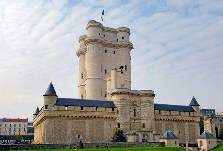 donjon: France, Paris: Monuments of Paris, Chateau de Vincennes Stock Photo