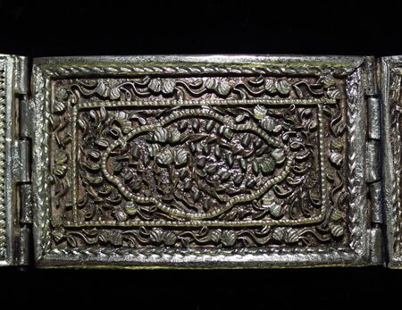 bijoux: Indonesia: Very old jewel probably in gold; buckle or bracelet Stock Photo